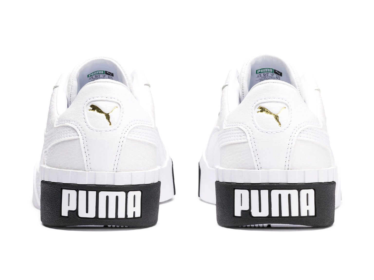 White Cali shoes featuring PUMA on the sole 4514f3c49