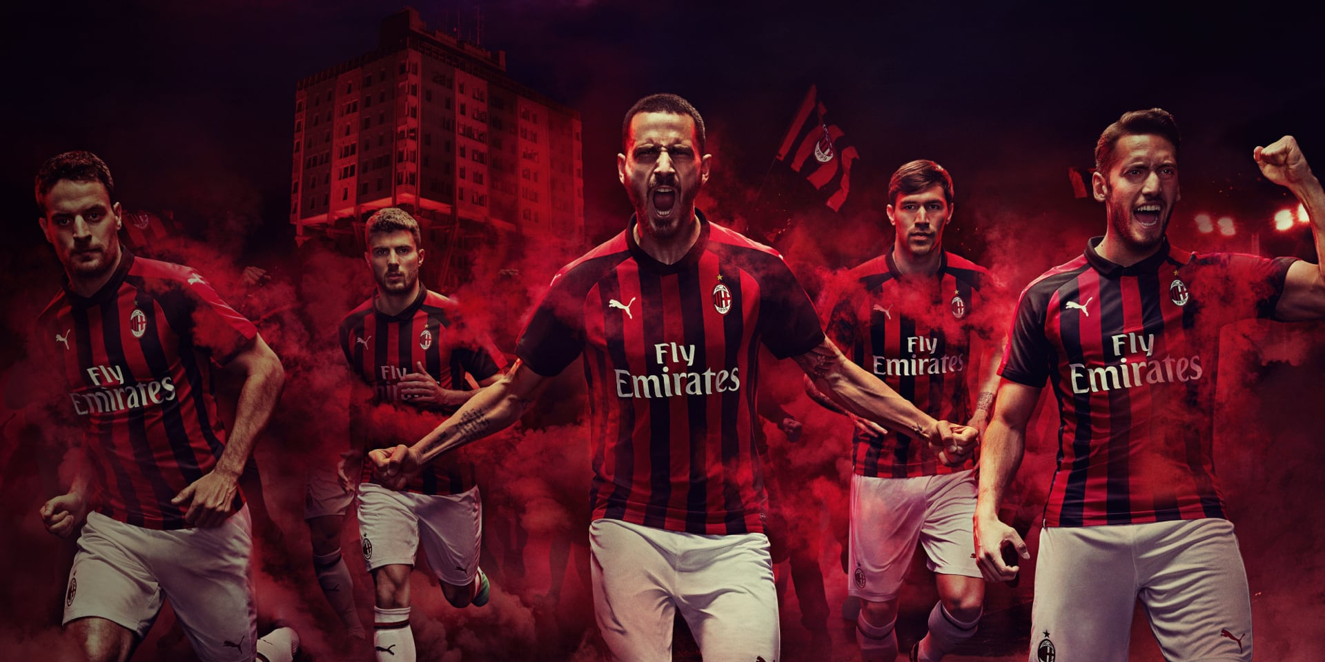 297c16e1bb35 PUMA® - INTRODUCING THE NEW AC MILAN 2018/19 HOME KIT