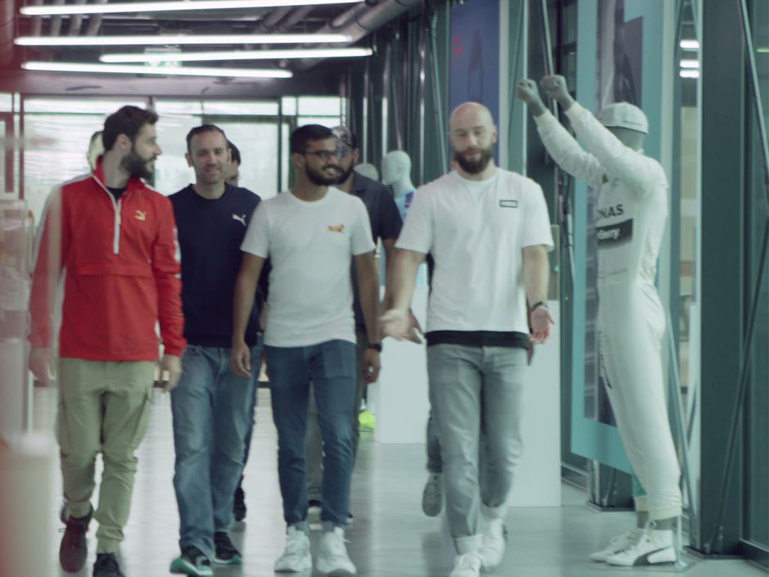PUMA employees waling