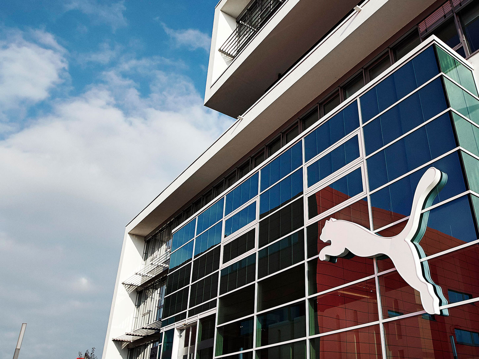PUMA's Headquarter Entrance with Logo