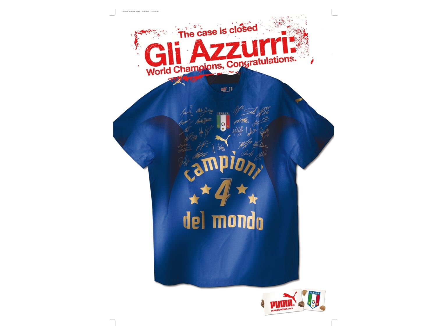 Gli azzuri Italien Trikot