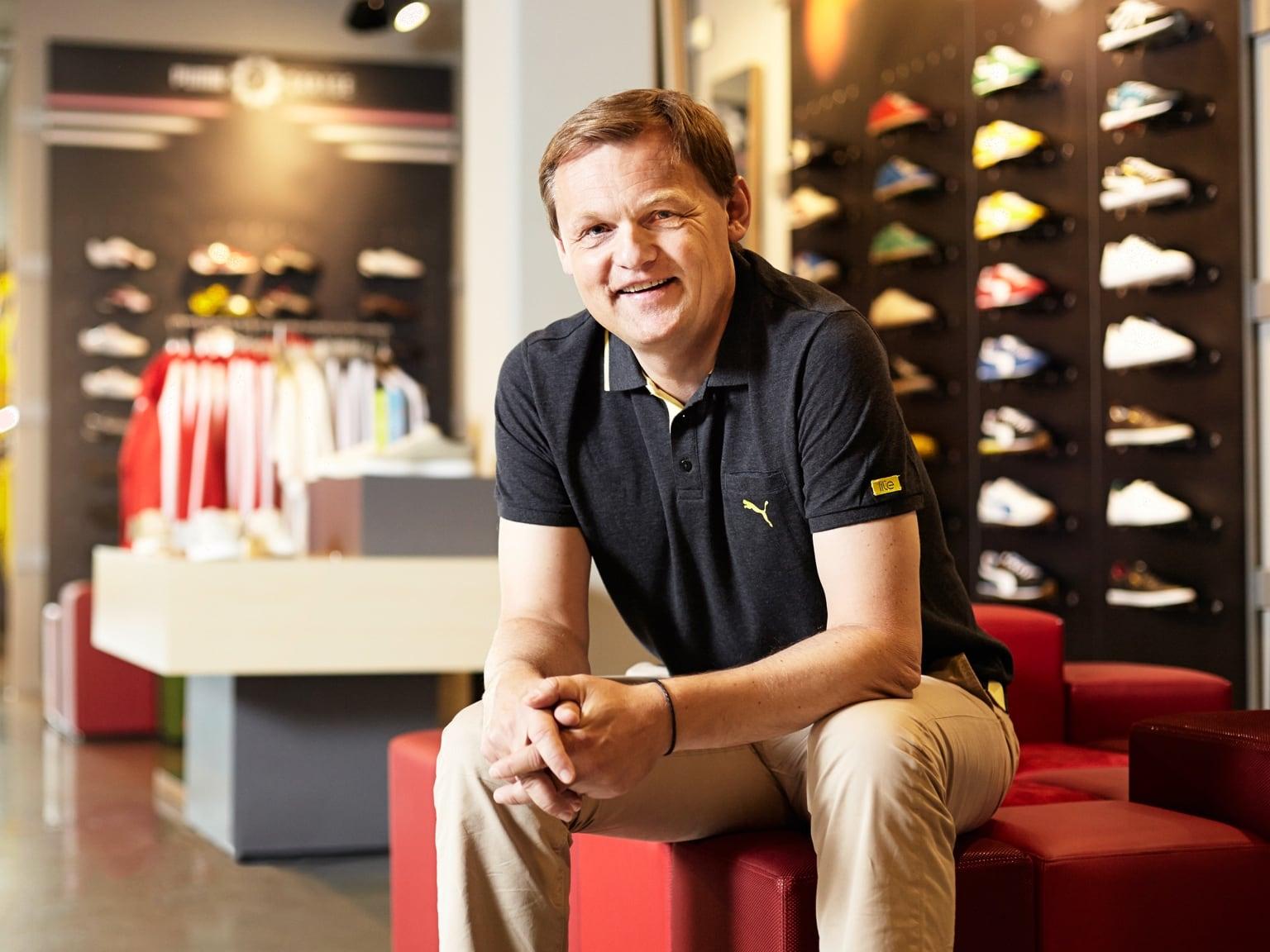 Le directeur général de PUMA, Bjørn Gulden