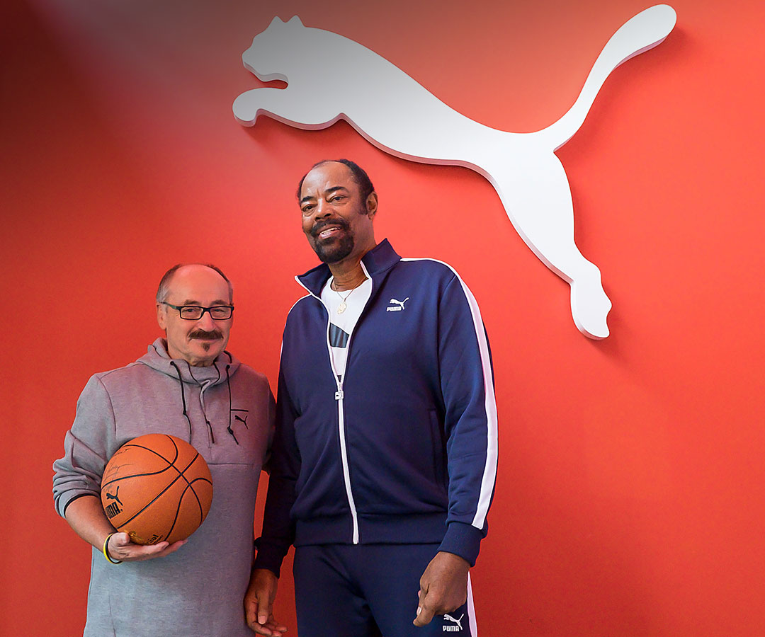 Clyde Frazier and Helmut Fischer