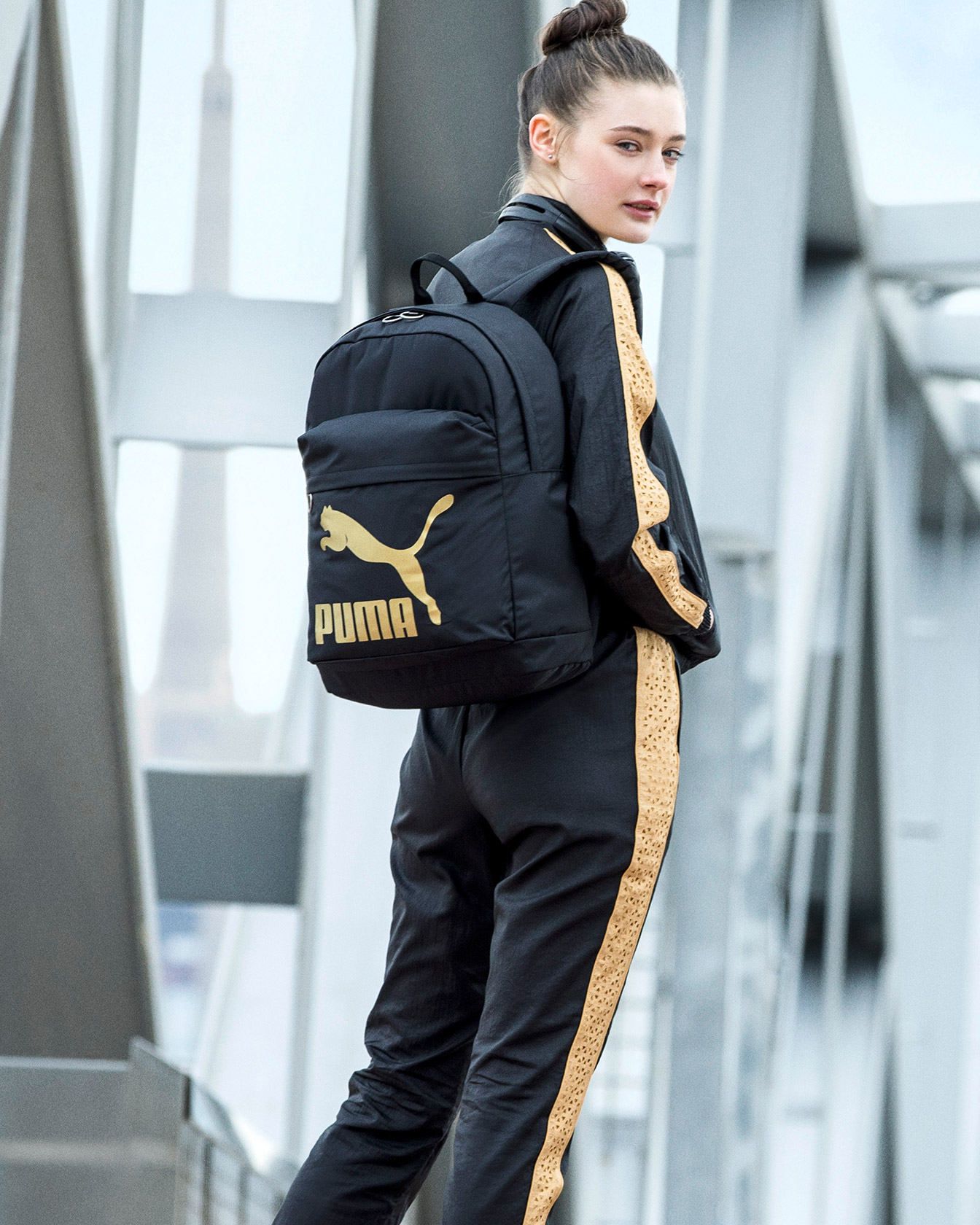 Female Model with PUMA Backpack
